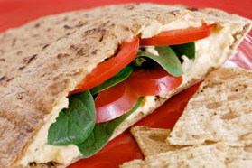 Cheese and Veggie Pitas