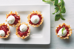 Sweet Tart Raspberry Phyllo Bites