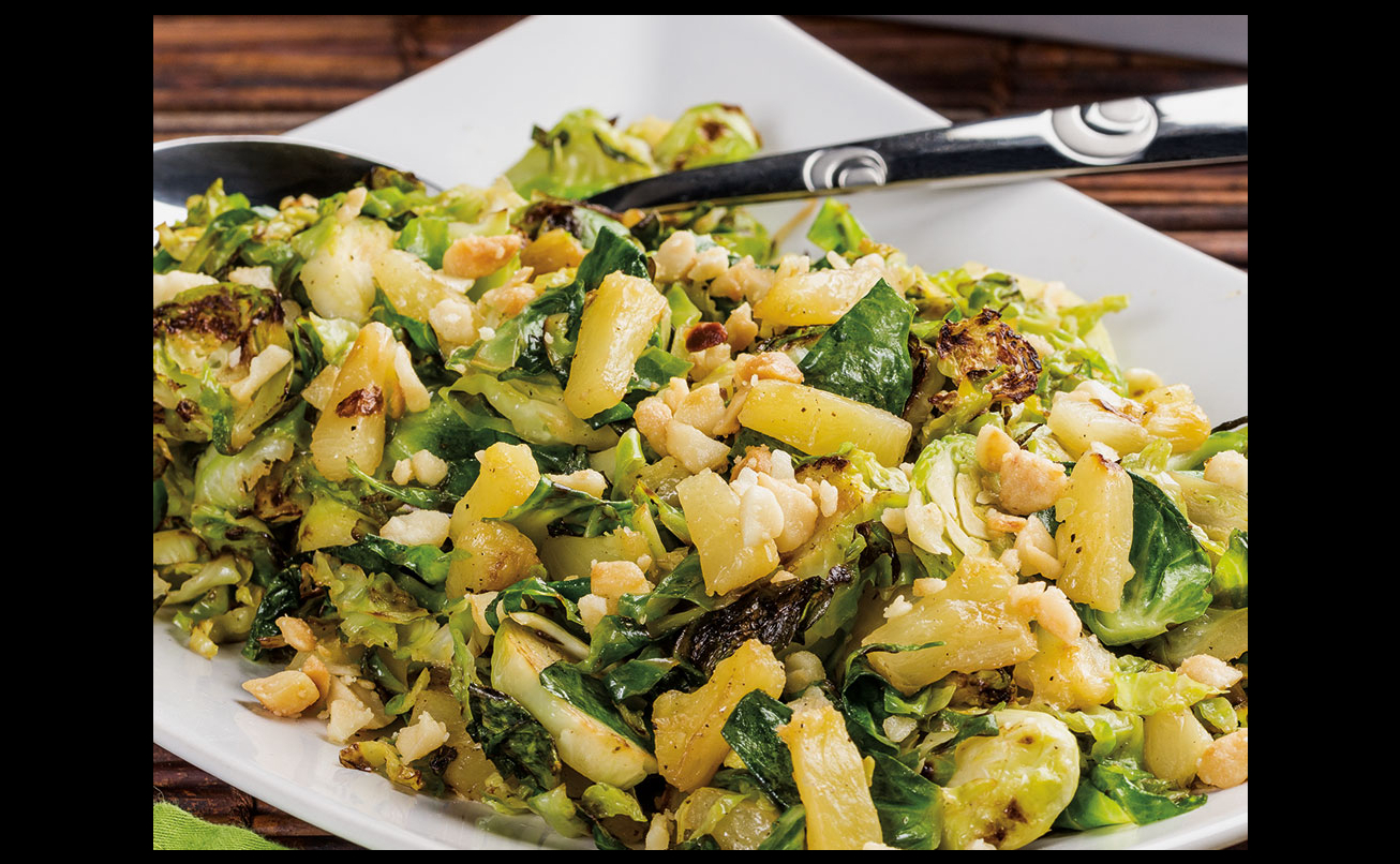 Hawaiian Shaved Brussels Sprouts