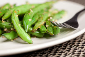 Roasted Green Beans in Champagne Vinaigrette