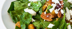 Salad Greens with Spiced Pecans