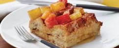 French Toast Casserole With Honey-Glazed Fruit