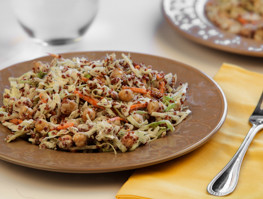 Toasted Quinoa and Cabbage Salad