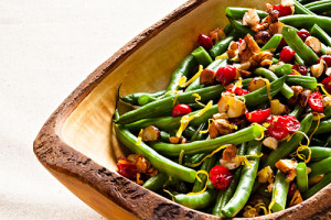Green Beans With Cranberries and Hazelnuts