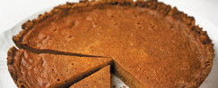 Holiday Pumpkin Pie With Maple-Ginger Crust