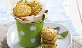 Savory Cauliflower and Cheese Cakes