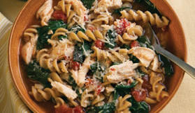 Chicken, Pasta and Spinach Soup