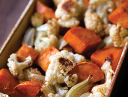 Roasted Cauliflower, Onions, And Sweet Potatoes