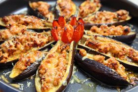 Grilled Cheesy Eggplant