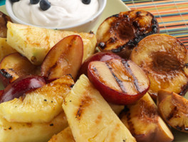 Grilled Fruit Salad with Chocolate Drizzle - Foodie Recipe