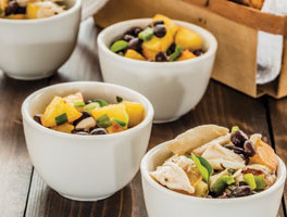 Peach and Black Bean Salsa with Chips