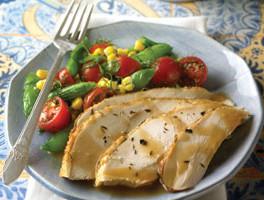 Corn, Tomato, Pea and Dill Salad