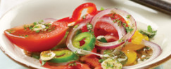 Sweet Pepper, Onion and Tomato Salad