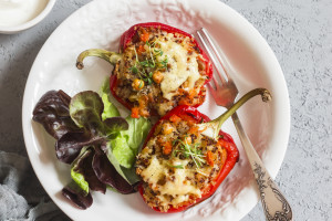 Mediterranean Unstuffed Peppers