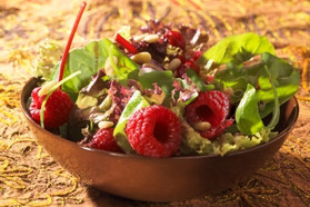 Green Salad with Raspberry Vinaigrette