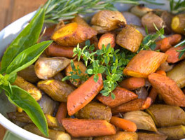 Roasted Potatoes, Carrots and Parsnips
