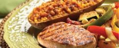 Cumin Pork & Sweet Potatoes with Spiced Butter