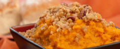 Winter Squash with Oat and Walnut Crumble Topping