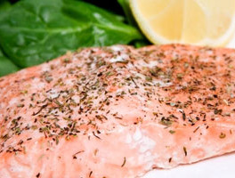 Salmon Stuffed with Spinach and Feta