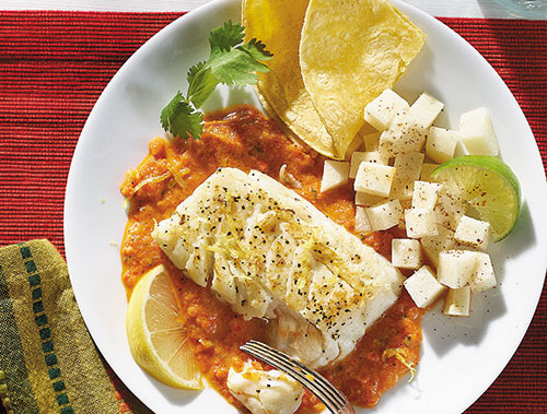 Seared Fish Fillets With Red Pepper Sauce