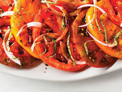 Seasonal Heirloom Tomato Salad