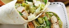 Chicken Caesar Salad Lunch Wraps
