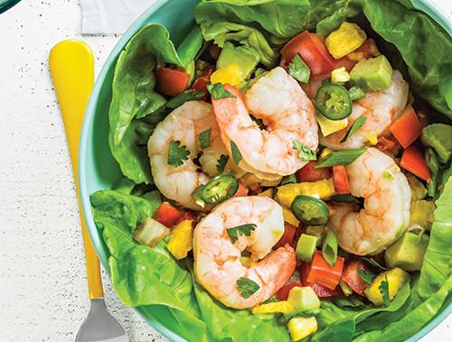 Shrimp and Avocado Taco Bowls