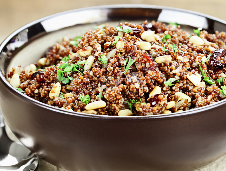 Quinoa with Cranberries and Pine Nuts