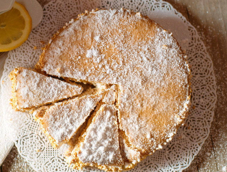 Pear, Ricotta and Pine Nut Cake