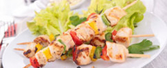 Grilled Chicken Caesar Kabobs