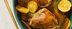 Spice-Rubbed Roasted Chicken Thighs With Lemons
