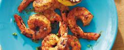 Spiced Shrimp With Grilled Lemon