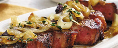 Strip Steak With Smothered Onions