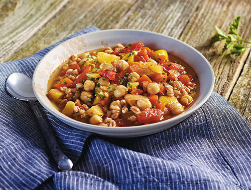 White Bean and Vegetable Soup With Farro