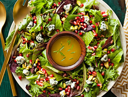 Winter Salad With Champagne Vinaigrette and Pomegranate