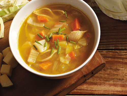 Winter Vegetable Potage With Pasta